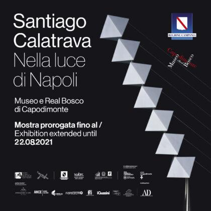 <strong>SANTIAGO CALATRAVA<h3><br/>06 dicembre 2019/22 agosto 2021<br/>Museo di Capodimonte, secondo piano<br/>Real Bosco di Capodimonte, Cellaio</h3><strong><h3>UN PONTE VERSO L'ARCHITETTURA</strong><br/>Nella luce di Napoli<h3>