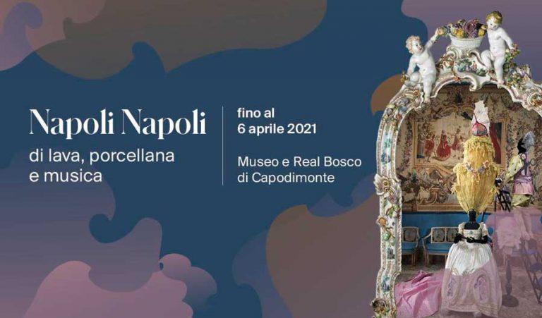 <strong>NAPOLI NAPOLI<br/>Dalla natura alla pittura<br/>di lava, porcellana e musica</strong><br/></p><h3>21 settembre 2019/06 aprile 2021</p>Museo e Real Bosco di Capodimonte, Sala Causa</h3>