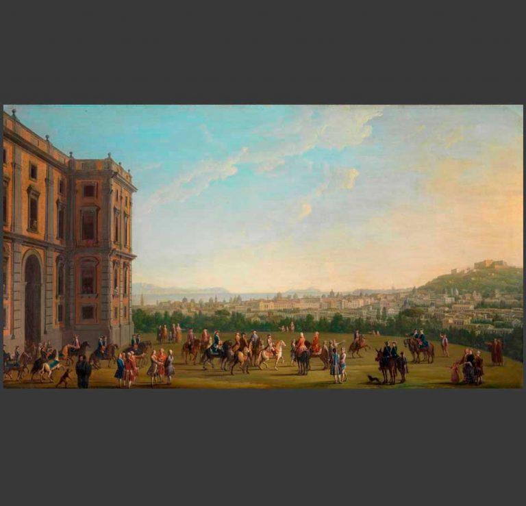 Antonio Joli, Ferdinando IV a cavallo con la corte