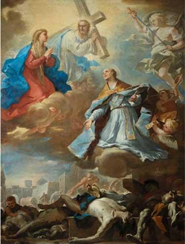 Luca Giordano, Le vittime della peste