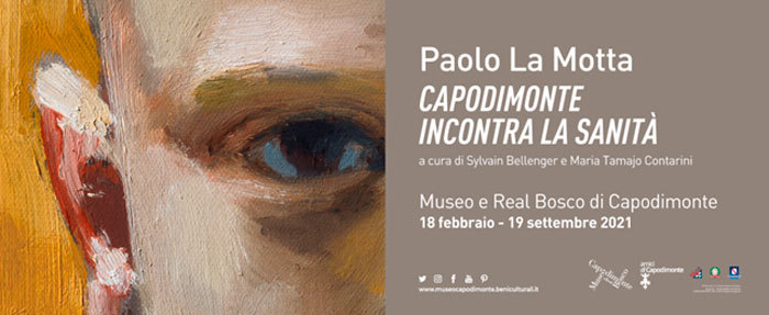 <strong>PAOLO LA MOTTA<br/>Capodimonte incontra la Sanità</strong><br/>promossa e organizzata con Amici di Capodimonte Ets<br/>grazie al sostegno della Regione Campania<br/></p><h3>18 febbraio / 19 settembre 2021</p>Museo e Real Bosco di Capodimonte, Sezione arte contemporanea </h3>